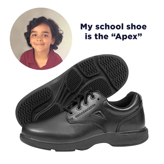 They may be junior in stature, but they have big shoe support needs! Shoes for this age group need to be durable, lightweight and flexible. Look for a firm heel counter to hold the heel in place. Cross trainers are a versatile option for the active child if the uniform policy allows.