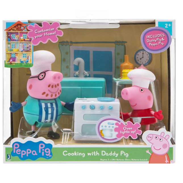 Peppa Pig Little Rooms - Cooking with Daddy Pig