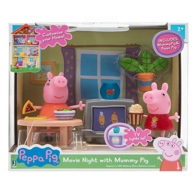 Peppa Pig Little Rooms - Movie Night with Mummy Pig
