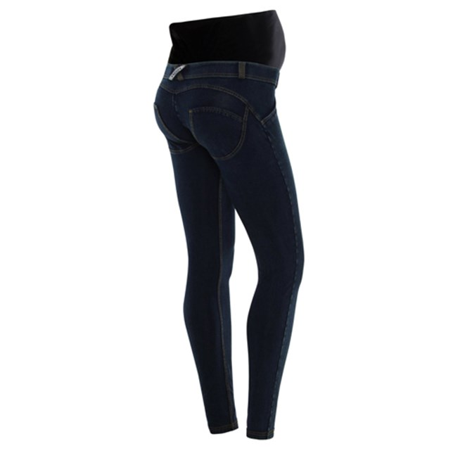 Maternity WR.UP Denim - Dark Blue + Yellow Stitching