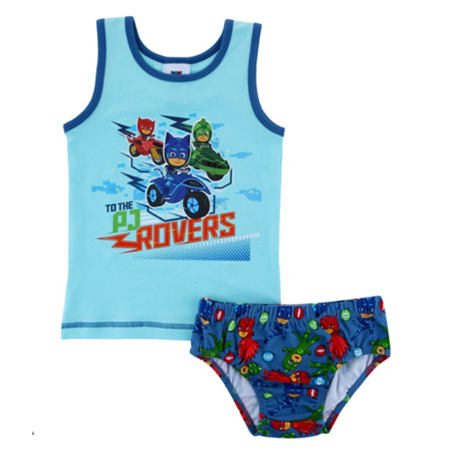 PJ Masks Boys singlet and brief set