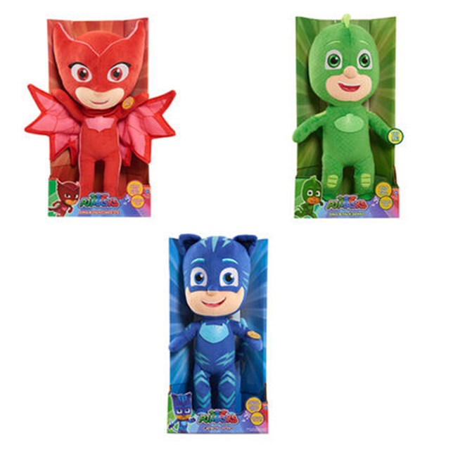 PJ Masks Sing & Talk Plush Toy - Assorted