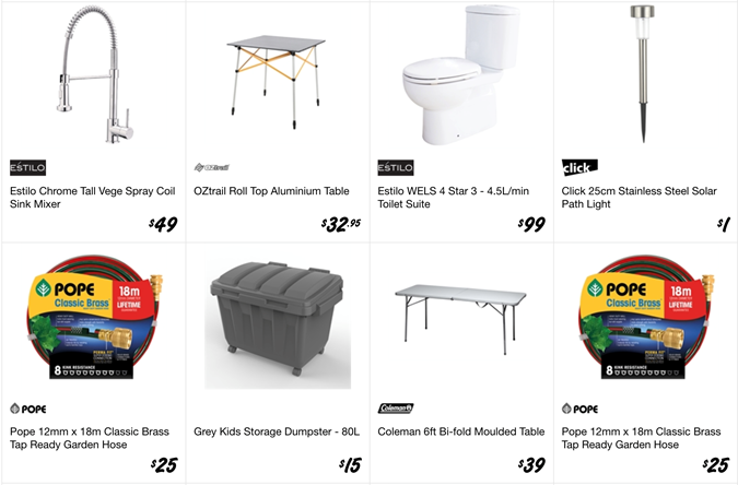 Bunnings stock clearance sale