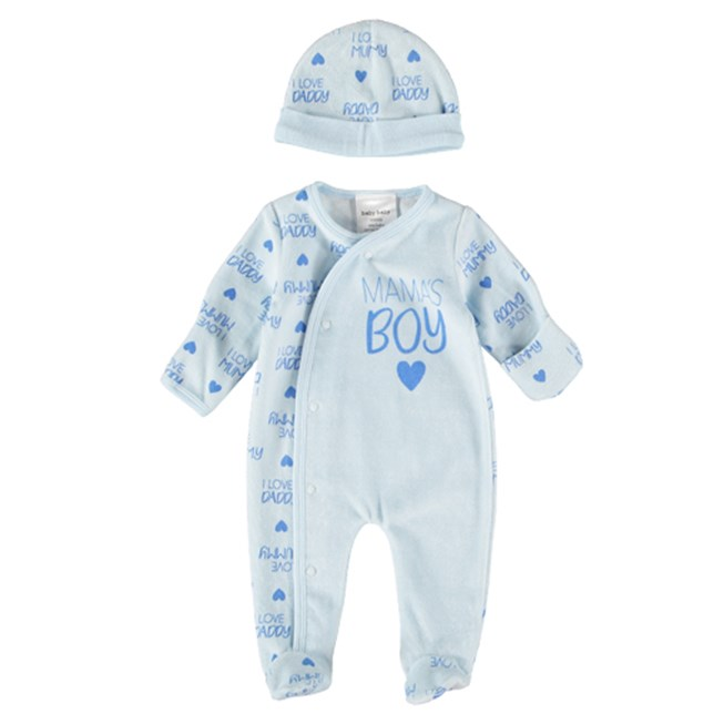 Baby Baby - Baby Romper and Beanie Starter Pack Blue