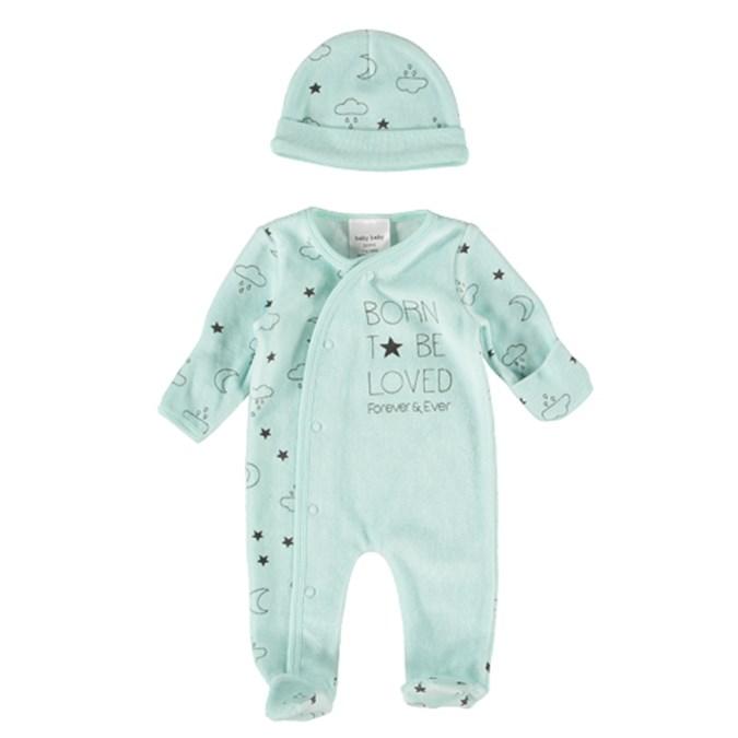 0f8b1d804 Baby Premature Romper Set Mint