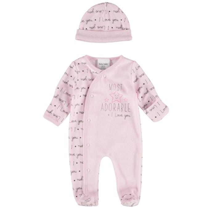 4f1166c8d Baby Premature Romper Set Pink