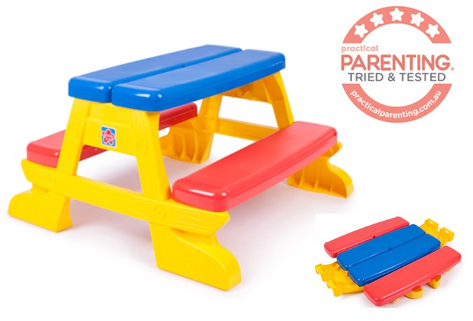 Grow N Up Kids Picnic Table And Bench Chair Set Practical