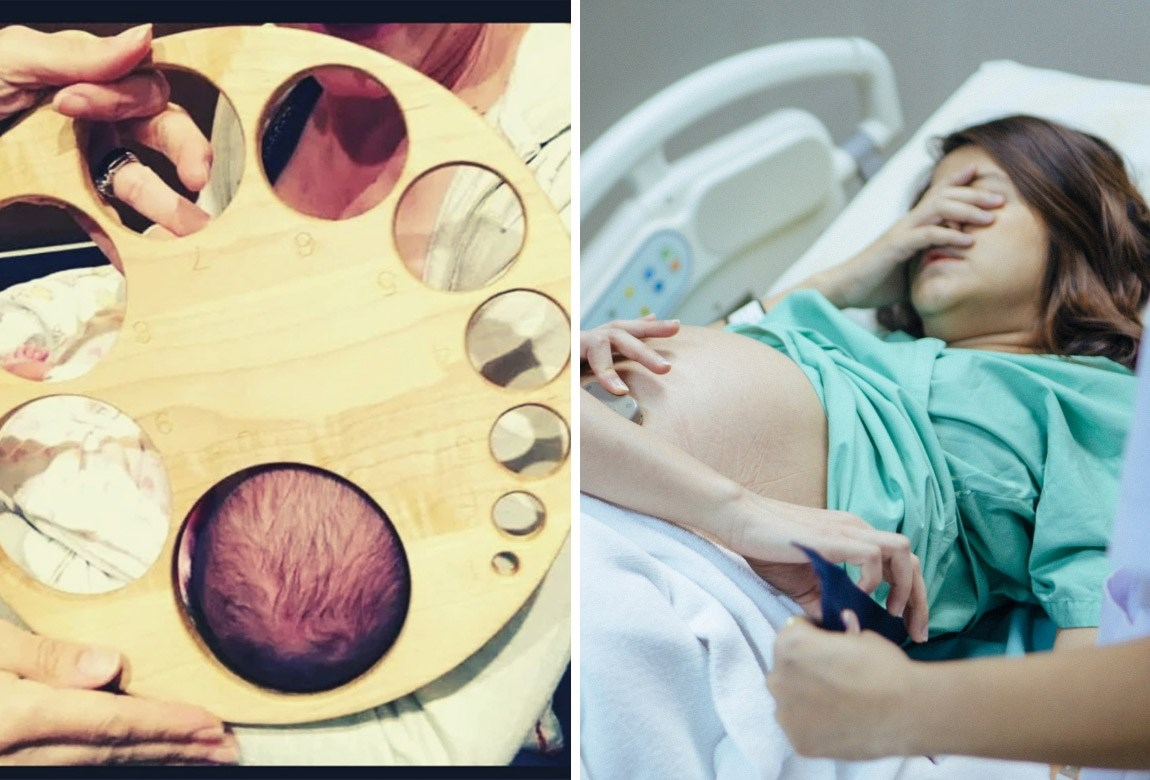 Eek This Eye Watering Photo Shows Exactly What Being 10cm Dilated Looks Like During Birth Practical Parenting Australia