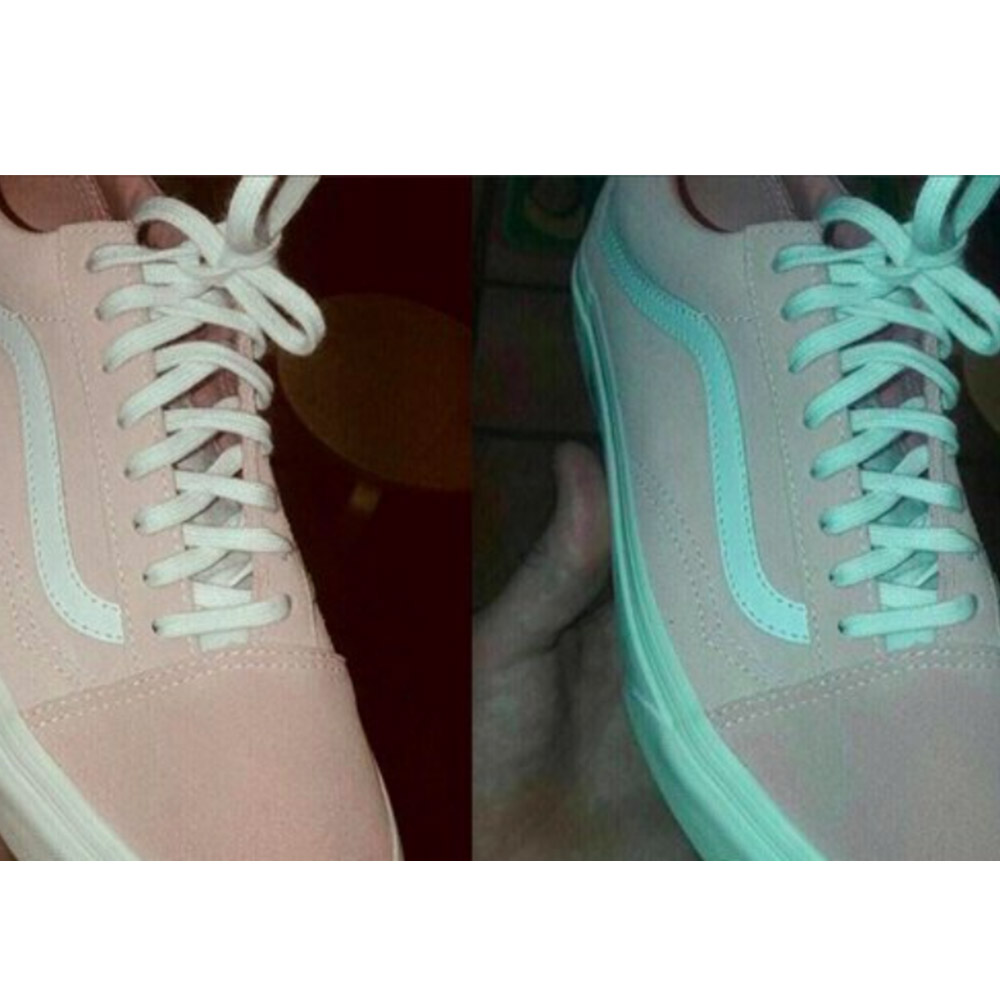 pink and white trainers