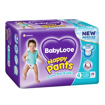 Bab0004 - BabyLove Nappy Pants Toddler 9-14kg