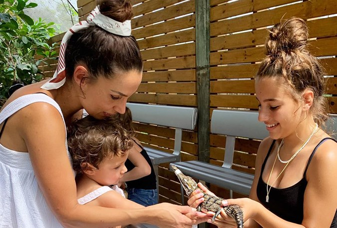 Snezana Wood with Eve and Willow
