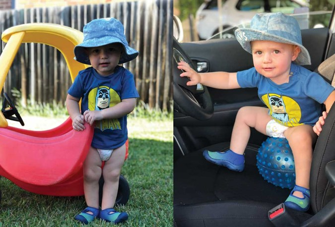 Franki's son, Louis, says the BabyLove Nappy Pants are great for driving all kinds of vehicles!