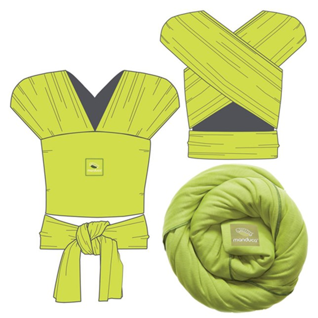 Manduca Organic Cotton Wrap Sling in Lime