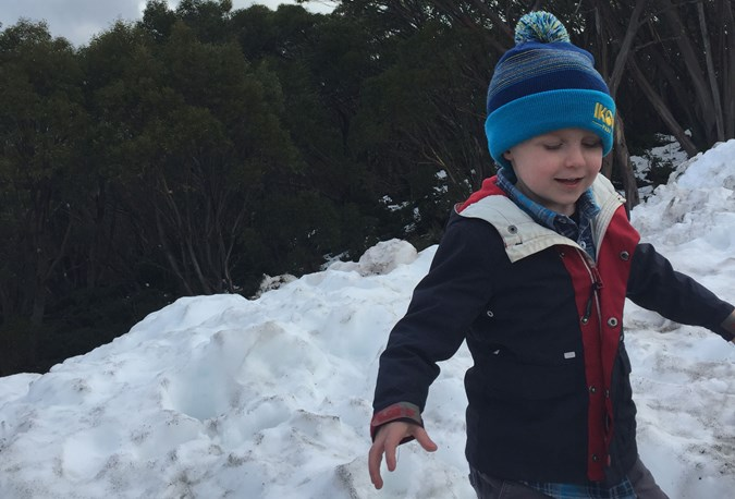 Enjoying the snow at Mt Baw Baw
