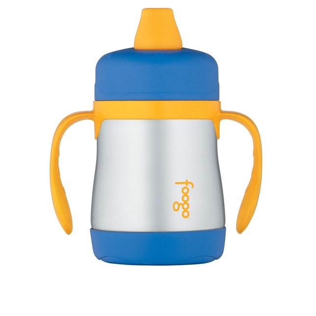 210ml Foogo® Vacuum Insulated Soft Spout Sippy Cup - Blue