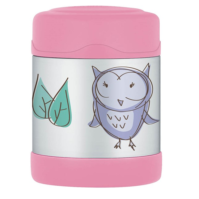 290ml FUNtainer® Stainless Steel Vacuum Insulated Food Jar - Owl
