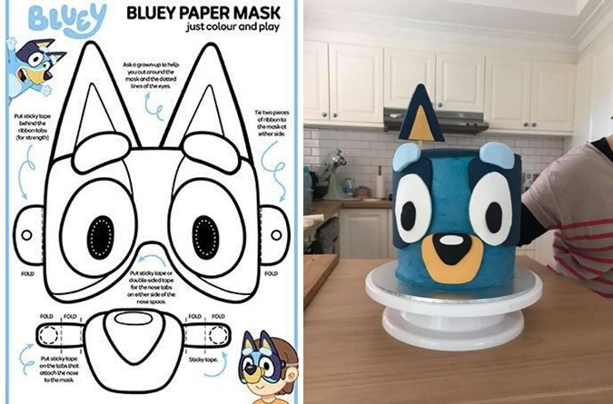 Mish uses the Bluey mask as a template