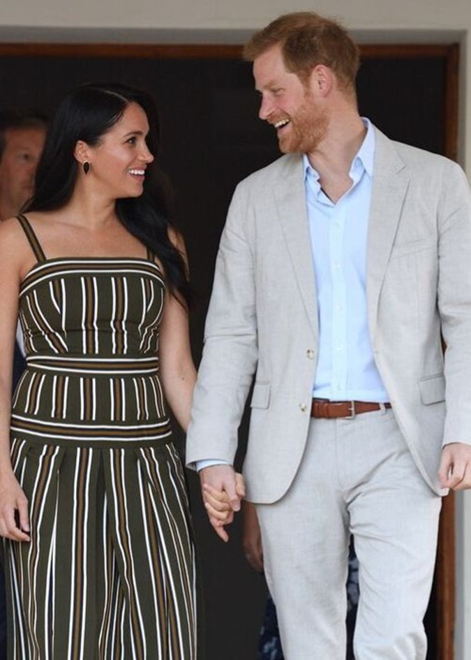 Prince Harry and Meghan Markle visited the British High Commissioner's residence in Cape Town. Image: Getty.
