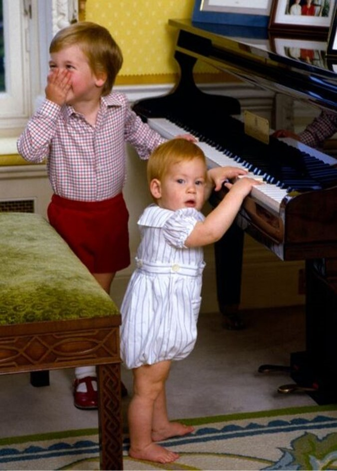 We wonder if Archie will be as cheeky as little Harry was! Image: Getty