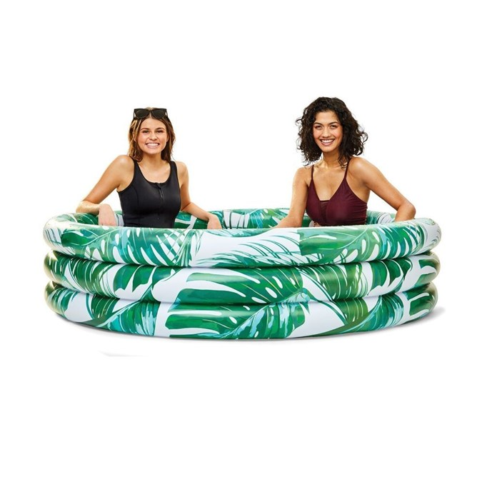 Rainforest inflatable pool, $25. Image: Kmart