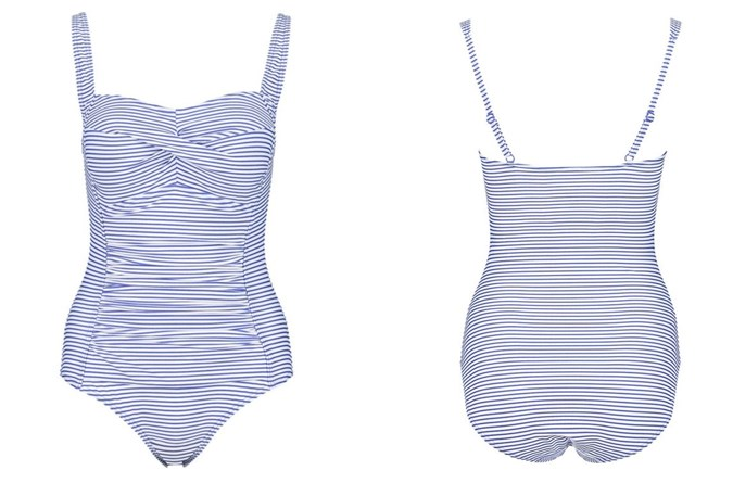 Cross Front One Piece Shapewear Swimsuit $22 from Kmart