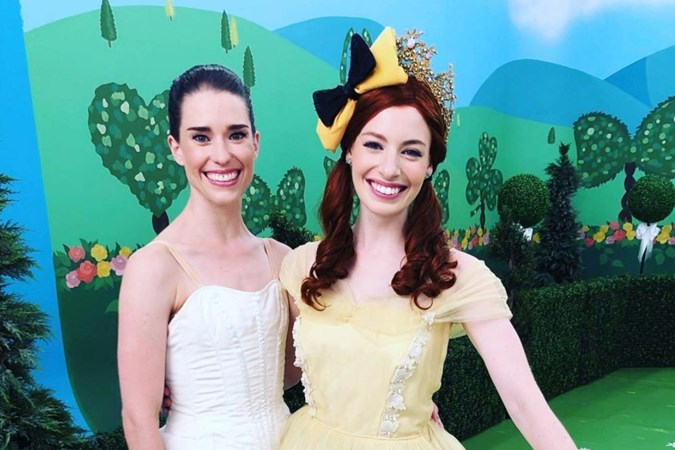 Dana and Emma on set of The Wiggles