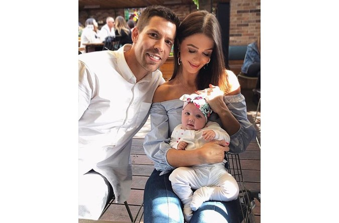 Emily and her husband Pierre Ghougassian with their baby girl Laila. Image: Instagram