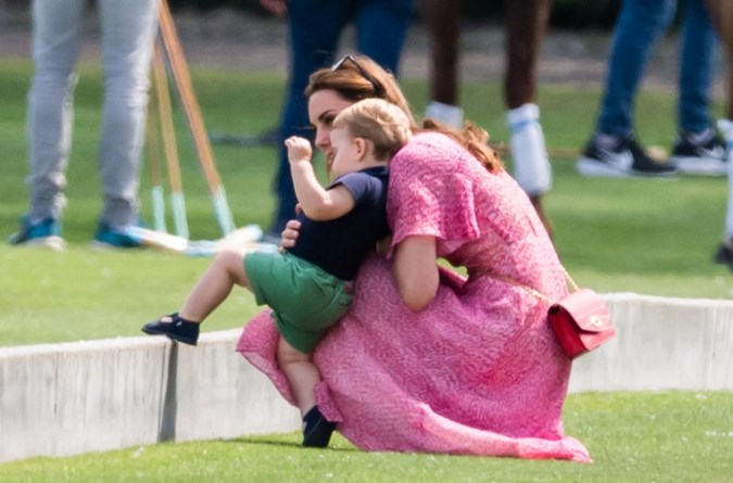 "Kate revealed Louis has started following her around very closely, saying: ""Me, me, me"" – something which she added many parents can probably relate to. Image: Getty"