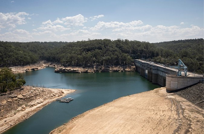 Warragamba Dam level is at less than 50%  full.