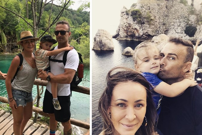 Michelle with partner Steve 'Commando' Willis and son Axel. Images: Instagram
