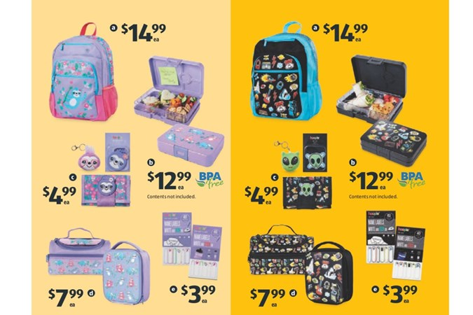 Huge range of fashion school accessories. Image: Aldi.