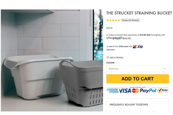 Strucket soaking system. Image: https://www.bubswarehouse.com/