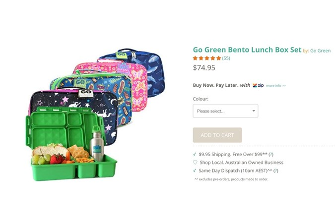 Go Green  Lunch boxes. Image: Hellogreen