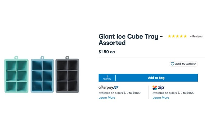 Giant Ice Cube Trays. Image: Kmart