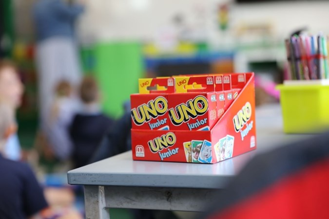 Games like UNO help with numeracy skills.