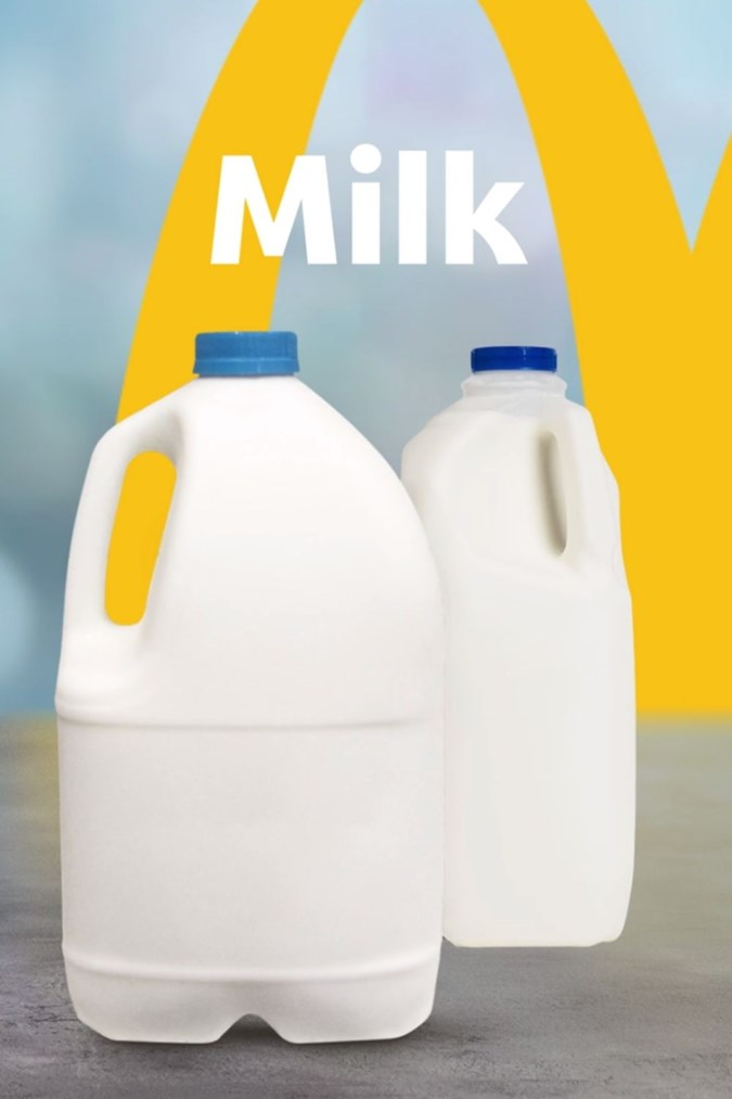 Milk available from Maccas. Image: McDonald's.