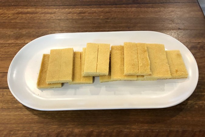 Just 4-ingredients needed to make the iconic Scotch Finger biscuit. Image: Arnott's.