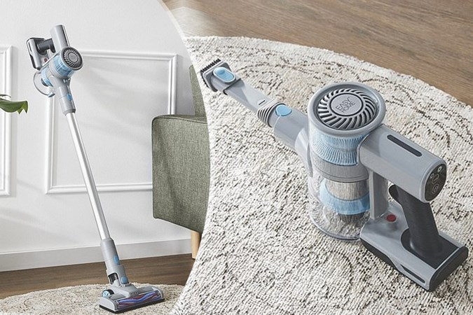 Eagle-eyed fans were quick to notice the Dyson-like features on the bargain sucker (Image: Aldi)