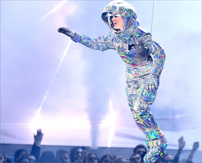 The VMAS is known for jaw-dropping fashion, like Gaga's 'Meat dress' and Katy Perry's Space ensemble! Image: Getty.