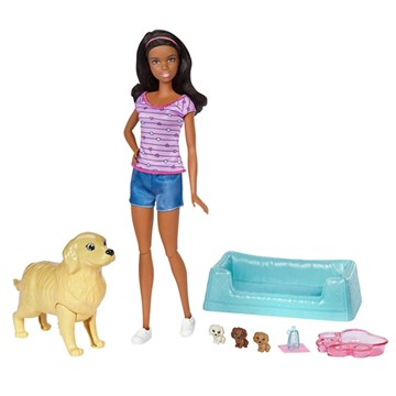 Barbie® Doll & Newborn Pups