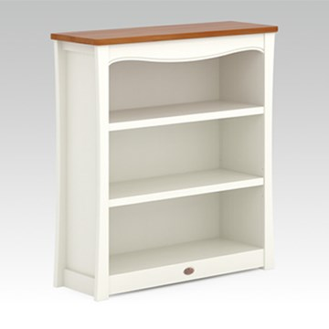 Provence 3 Shelf Bookcase Hutch - Cream and Pecan