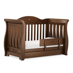 Sleigh Royale Cot bed - English Oak