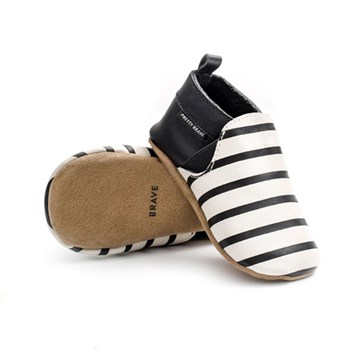 Pretty Brave Slip-on Black & White Stripe