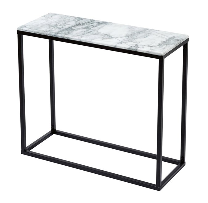 Marble hall table (credit: kmart)