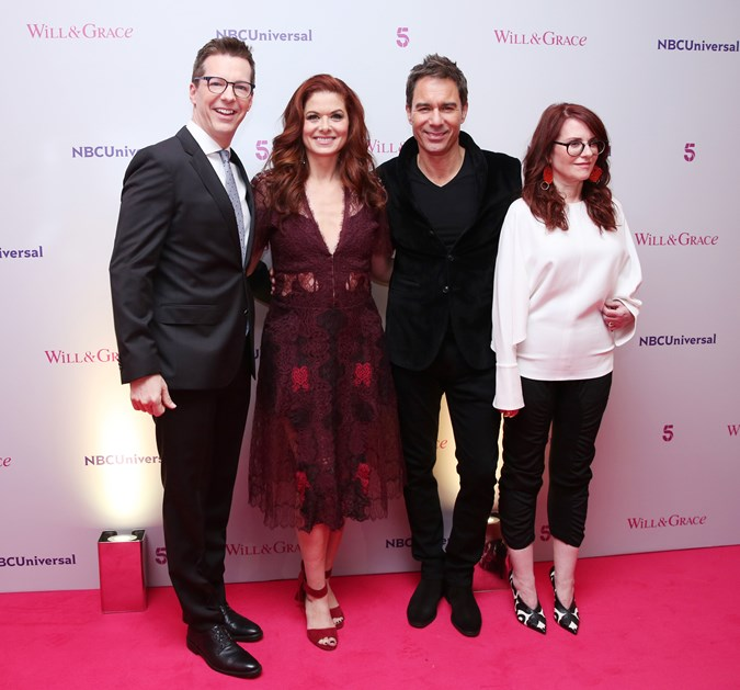 The cast of Will & Grace. Getty.