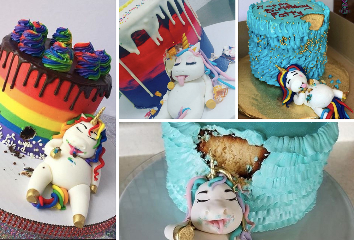 Cool Fat Unicorn Is The New Cake Trend Practical Parenting Australia Funny Birthday Cards Online Necthendildamsfinfo