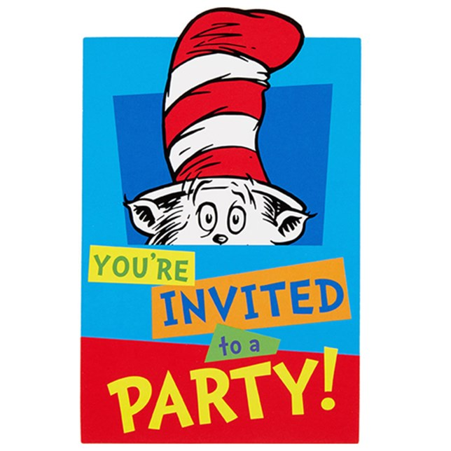 Dr Seuss Postcard Invitations