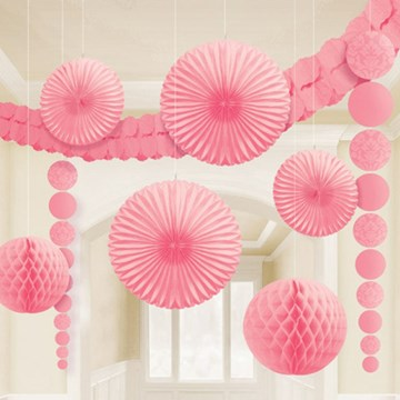 Pink Damask Party Decoration Kit