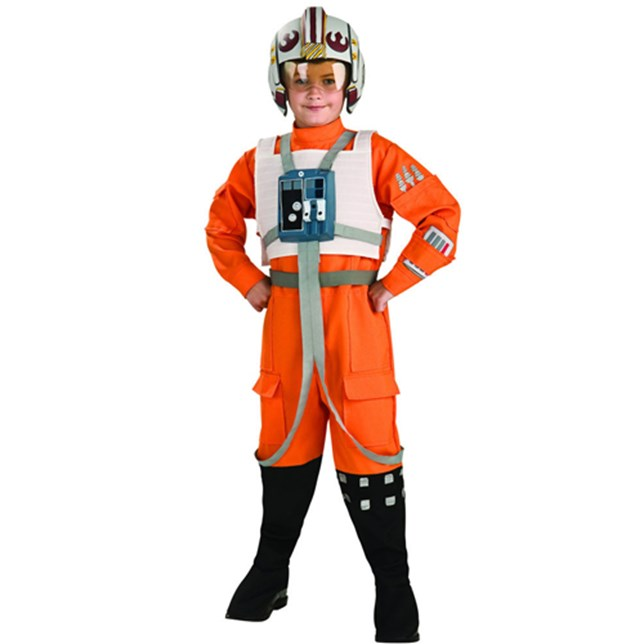 Star Wars X Wing Fighter Pilot Value Boys Costume