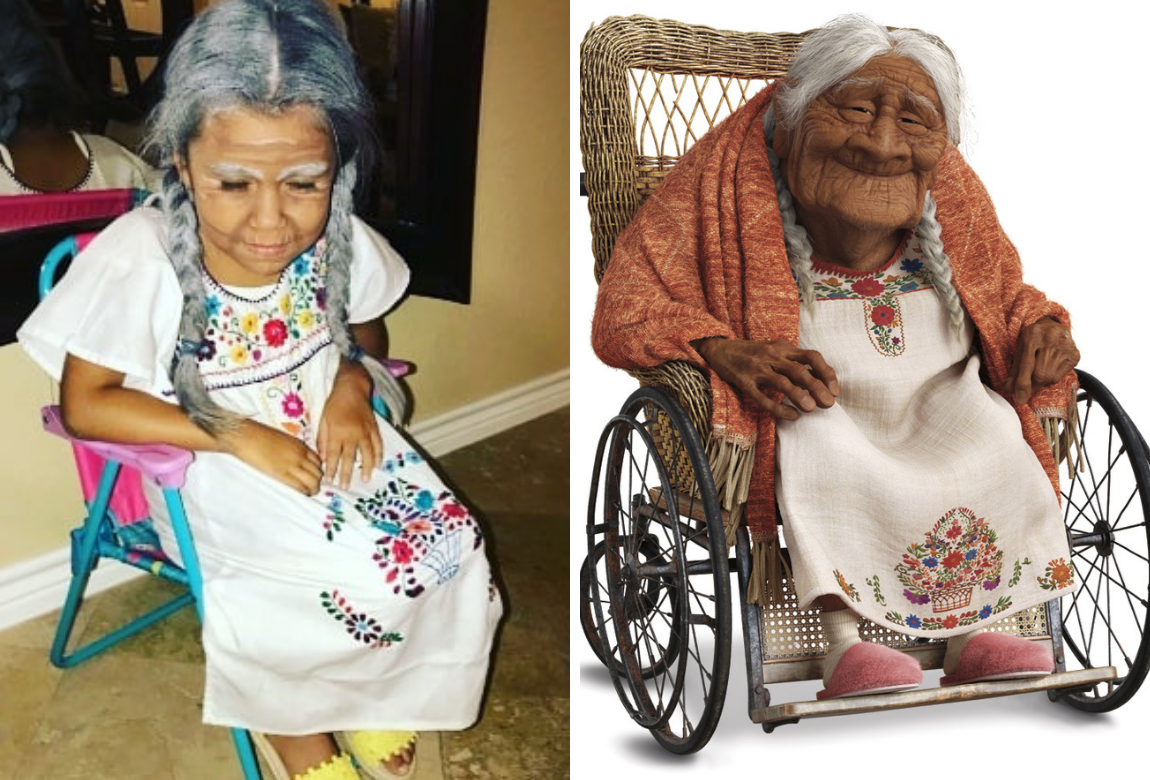 Five Year Old Girl Dresses Up As Mama Coco Practical